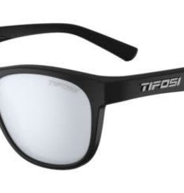 Tifosi Sunglasses Swank Satin Black/Smoke Blue