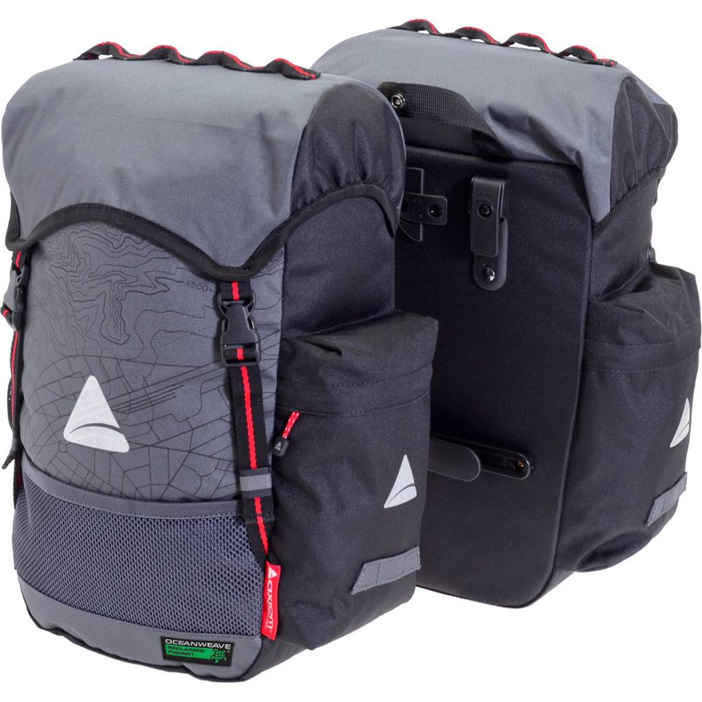 Axiom Panniers Seymour O-Weave Grey/Black 35L (pair)
