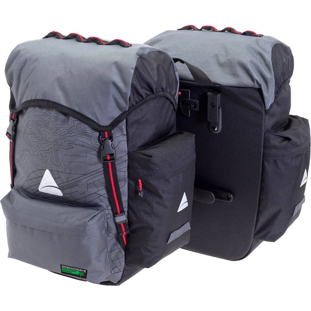Axiom Panniers Seymour O-WEAVE Grey/Black 55L (pair)