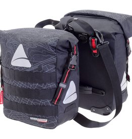 Panniers Waterproof Monsoon Black (pair)