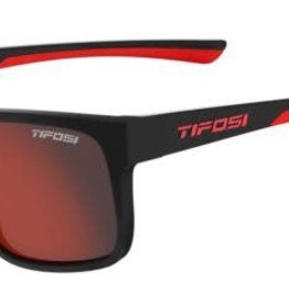 Tifosi Sunglasses Swick Satin Black/Crimson Smoke Red