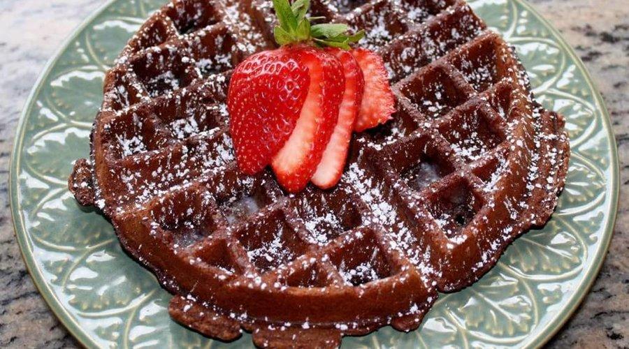 Chocolate Blood Orange Waffles