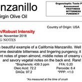 Delizia Northern Hemisphere Olive Oil Manzanillo -CA