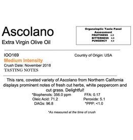 Northern Hemisphere Olive Oil Ascolano-CA