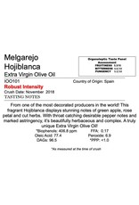 Northern Hemisphere Olive Oil Melgarejo Hojiblanca -Spain