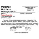 Delizia Northern Hemisphere Olive Oil Melgarejo Hojiblanca -Spain