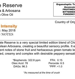 Southern Hemisphere Olive Oil Private Reserve Hojiblanca & Arbosana-Chile