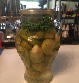 Gordal Olive Stuffed with Garlic & Green Chili