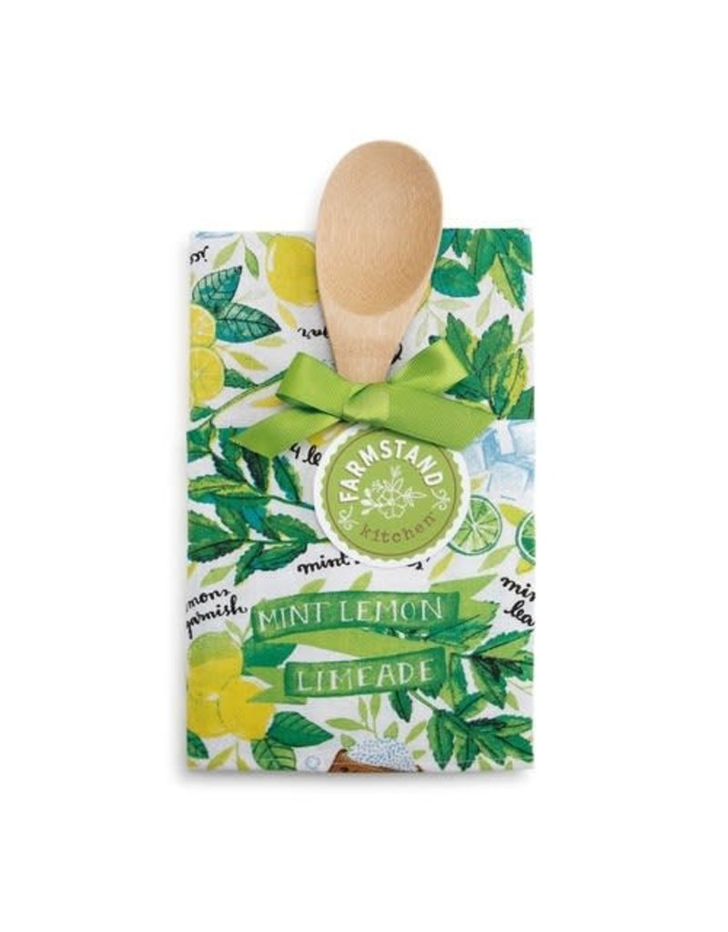 Mint Lemon Limeade Tea Towel and Spoon Set
