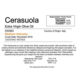 Northern Hemisphere Olive Oil Cerasuola -IT