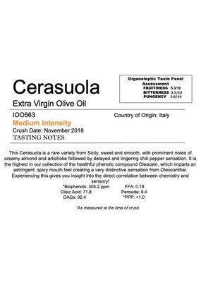 Northern Hemisphere Olive Oil Cerasuola -IT