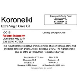 Southern Hemisphere Olive Oil A.L. Estate Koroneiki-Chile IOO151