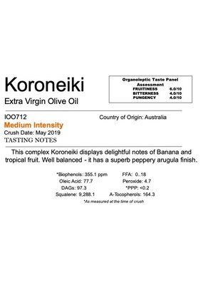 Southern Hemisphere Olive Oil Koroneiki-AUS