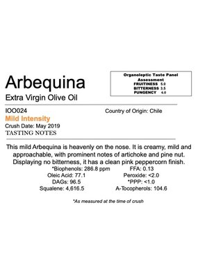 Southern Hemisphere Olive Oil Arbequina - Chile IOO024