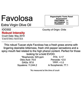 Southern Hemisphere Olive Oil Favolosa- Chile