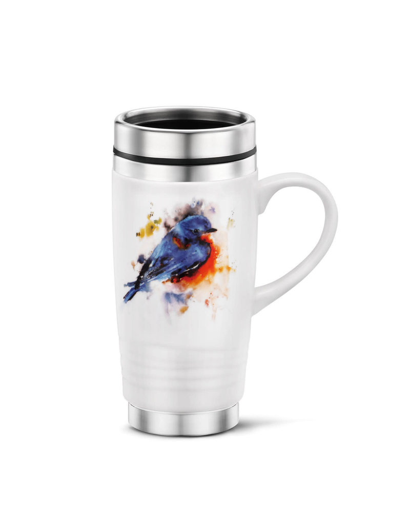 Travel Mug- Springtime Bluebird