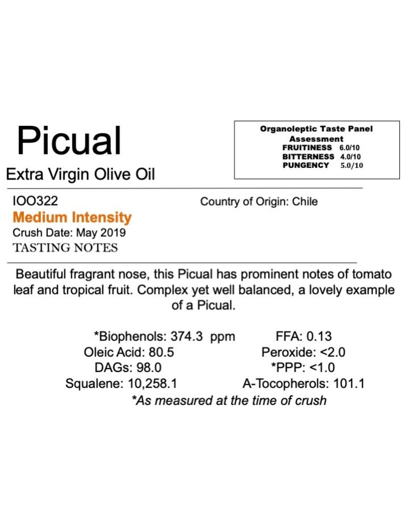 Southern Hemisphere Olive Oil Picual-Chile IOO322