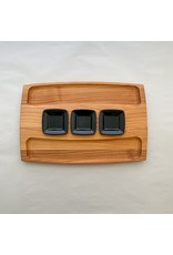 Serving Board 3 Dish-Black Bowls