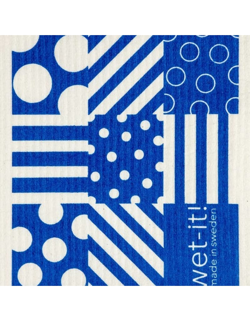 Wet-It Wet It Dots and Stripe Blue