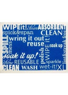 Wet-It Wet It XL Word Art Blue