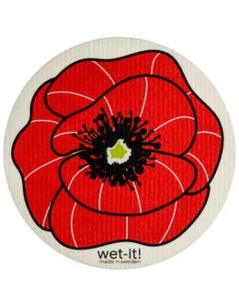 Wet-It Wet-It Round Poppy