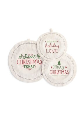 Dish Covers (set of 3) Baked w/Holiday Love