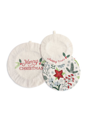 Dish Covers (set of 3) Holiday Treats