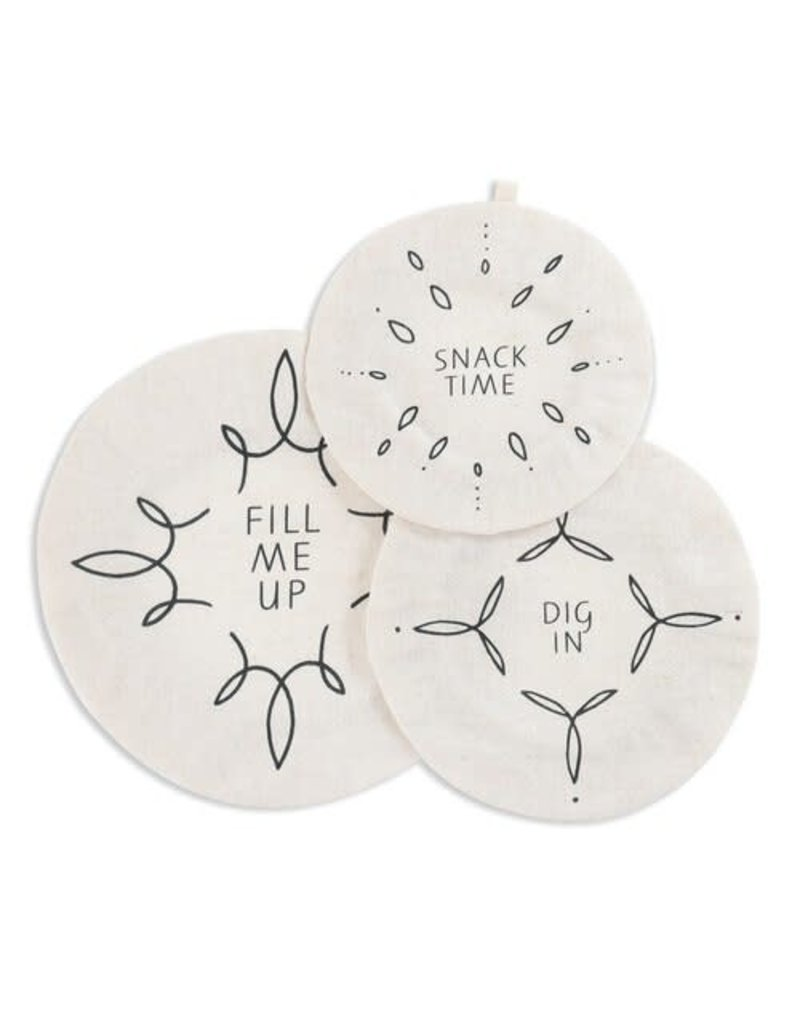 Dish Covers (set of 3) Fill Me Up