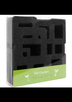 Coasters Black Cubes