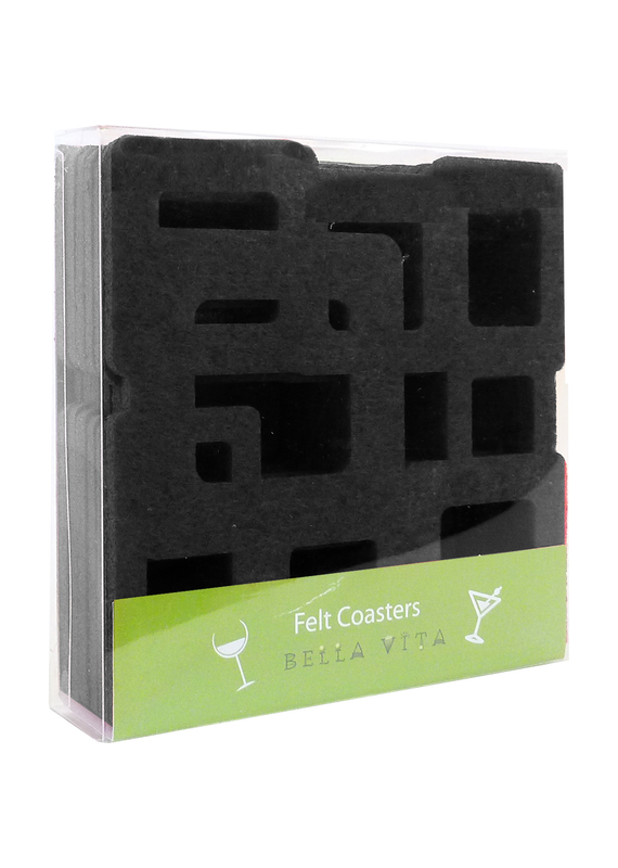 Coasters Black Cubes