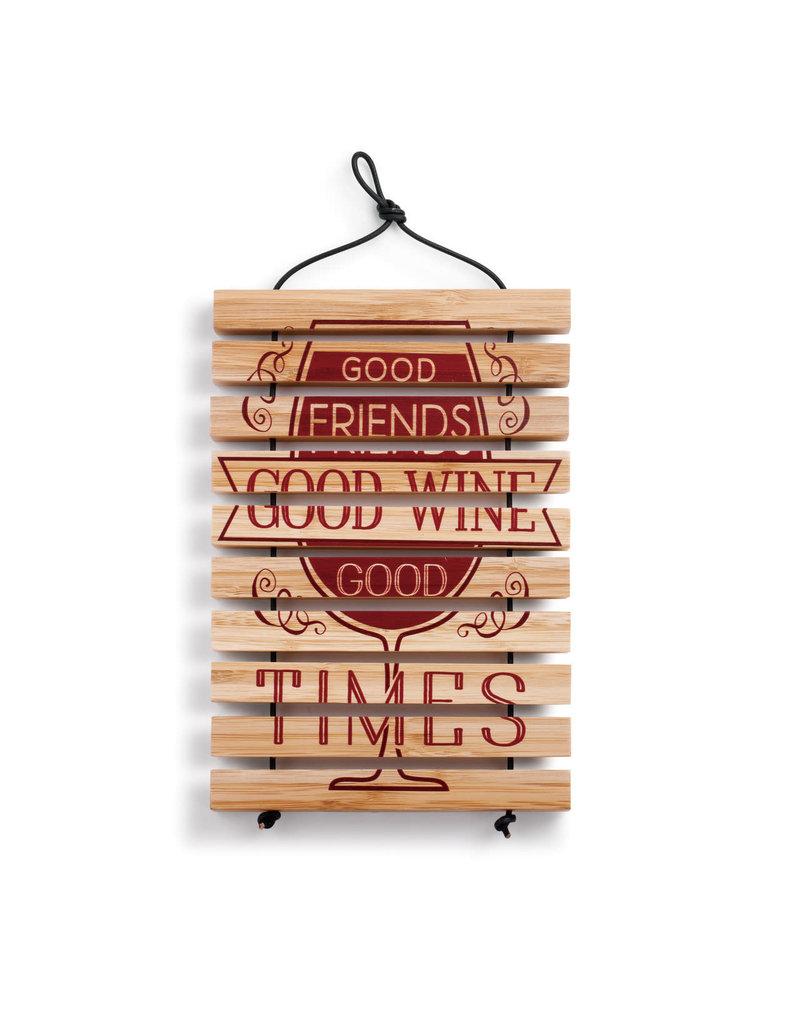 Expandable Trivet Good Friends Good Wine