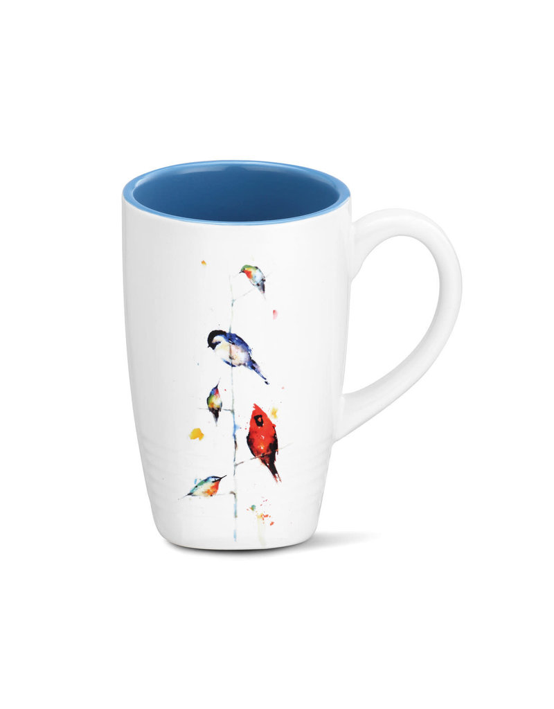 Latte Mug Birds on a Branch