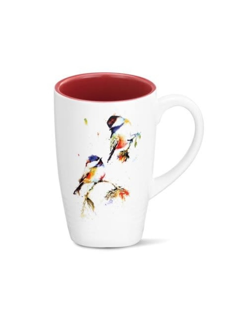 Latte Mug Chickadees Dropping In