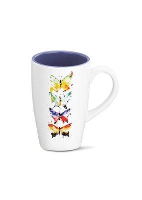Latte Mug Four Butterflies