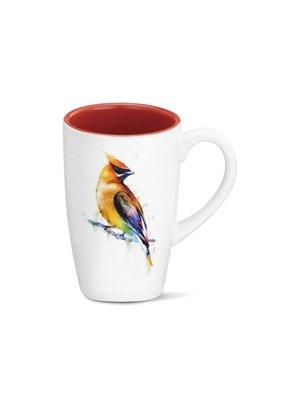 Latte Mug Cedar Waxwing