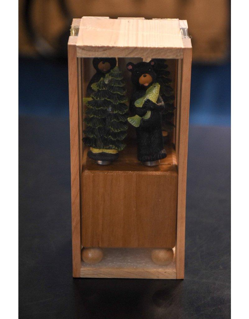 Mini Block with Spreader 2 Bear 2 Pine Tree