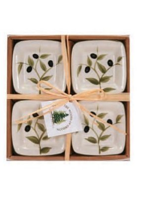 Set of 4 Dipping Dishes Olives Square