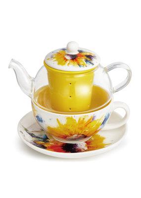 Tea Pot Set Sunflower