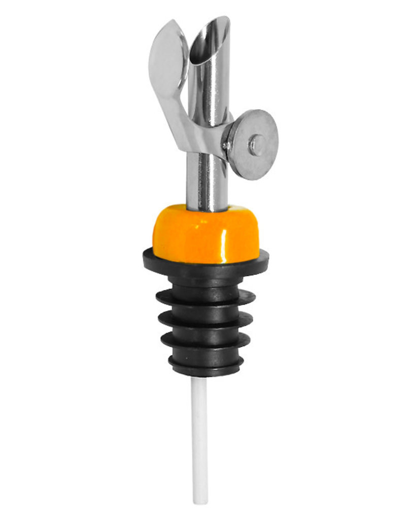 Stainless Steel Self Closing Pour Spout Orange