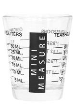 Measuring Shot Glass Black 2oz