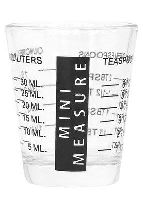 Measuring Shot Glass Black 2oz
