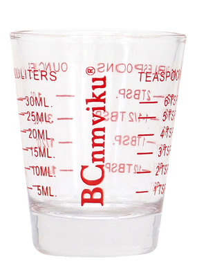 Measuring Shot Glass Red 2oz