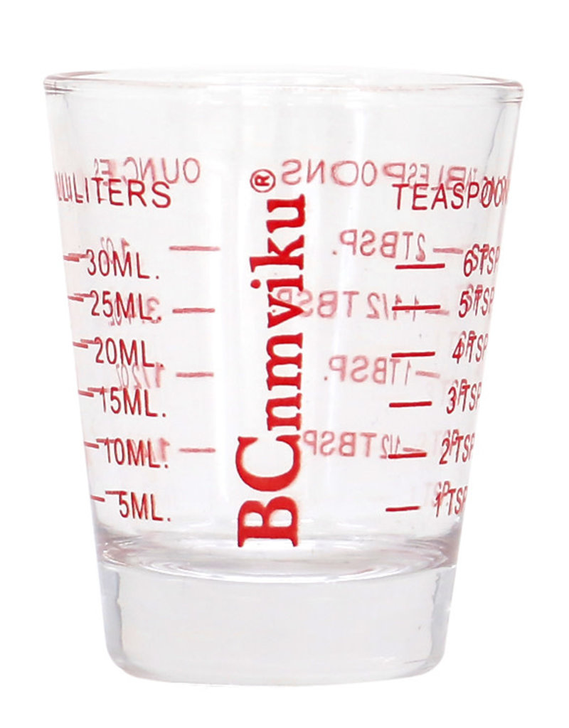 Measuring Shot Glass Red 2oz
