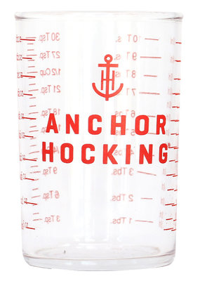 Measuring Shot Glass Red 4oz