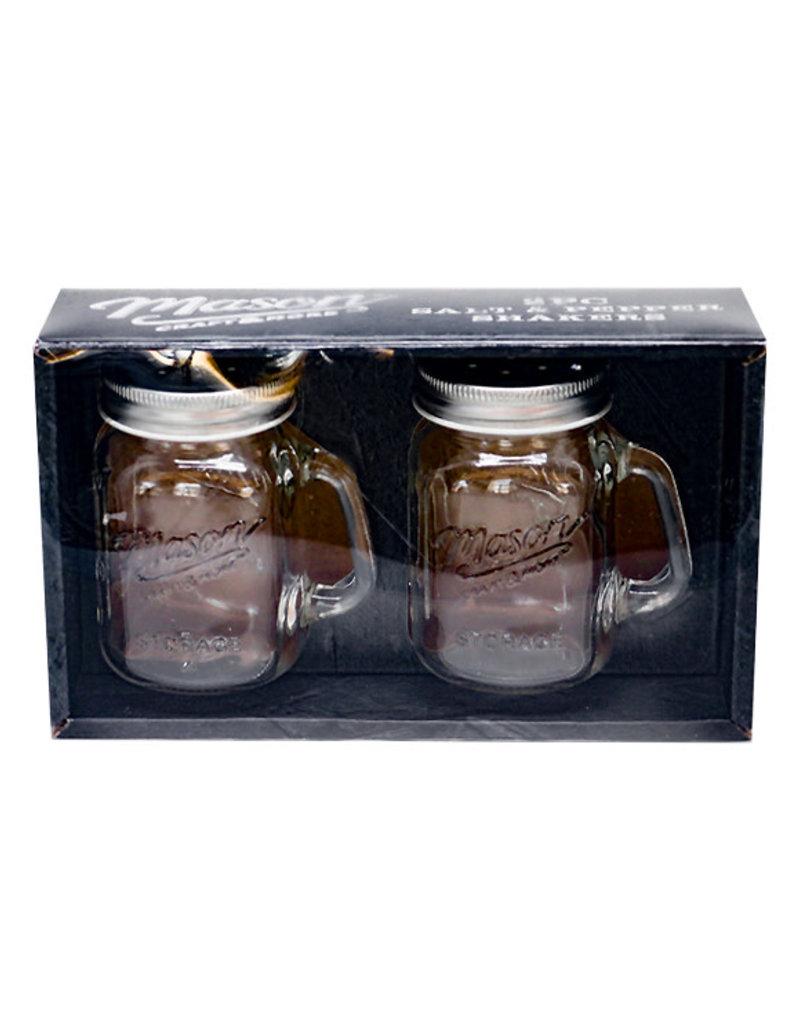 Mason Jar Salt & Pepper Shaker Set