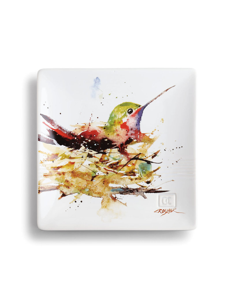 Snack Plate Hummingbird in Nest