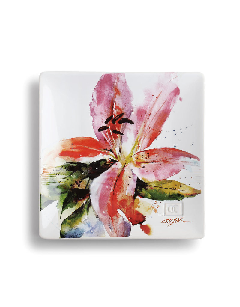 Snack Plate Stargazer Lily