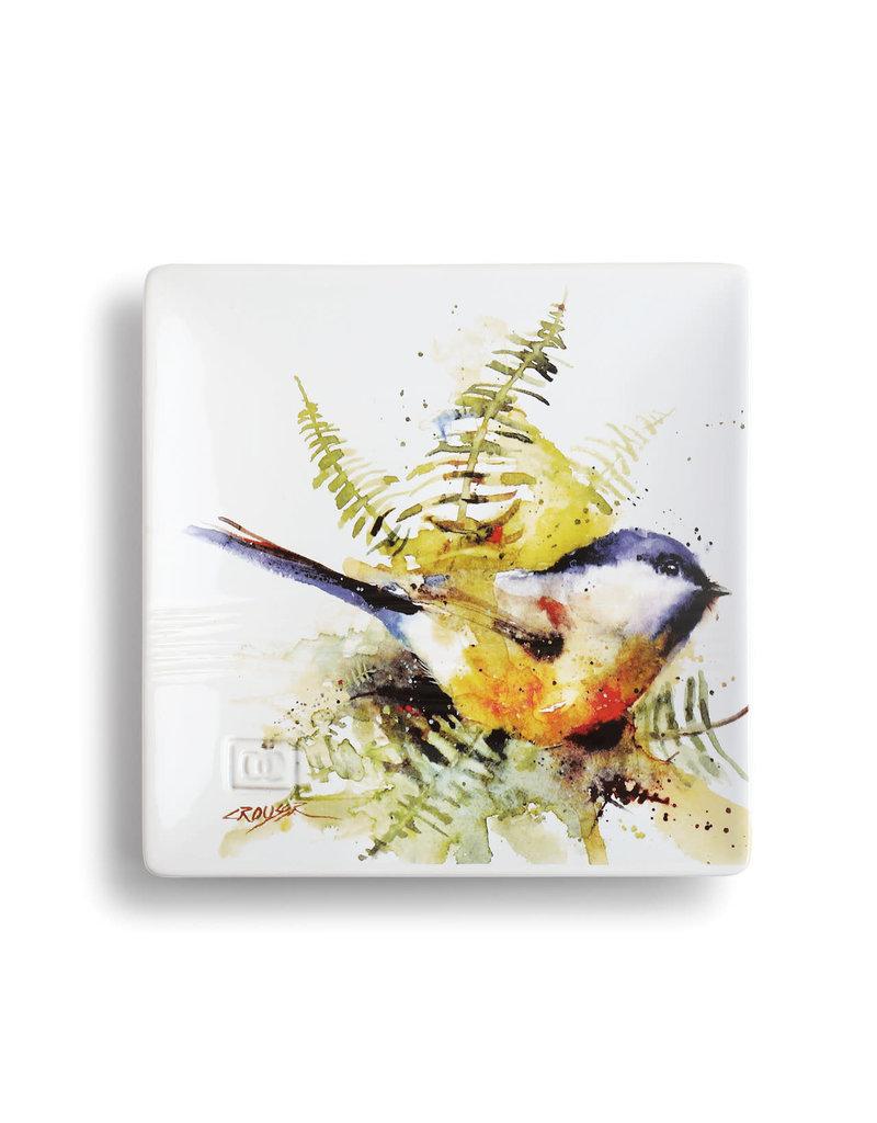 Snack Plate Spring Chickadee