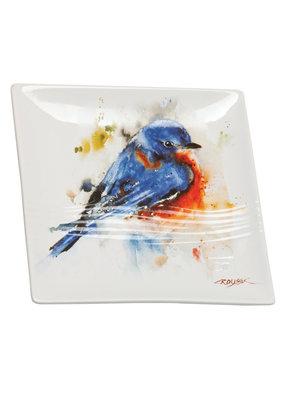 Snack Plate Bluebird