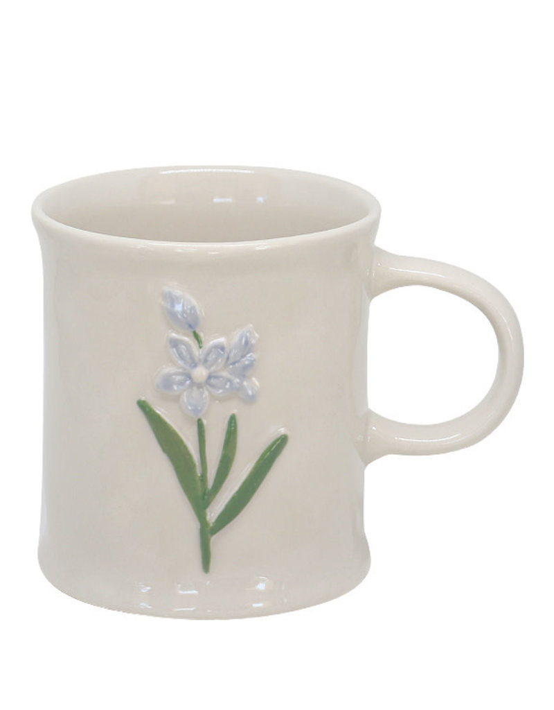 Two's Company Floral Mug Blue